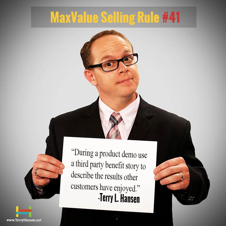 Terry Hansen-MaxValue Selling Rule#41