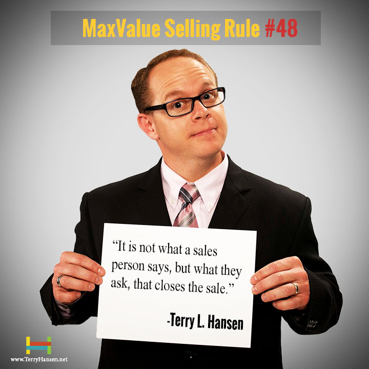 Terry Hansens MaxValue Selling Rule#48